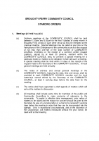 Broughty Ferry Community Council Standing Orders