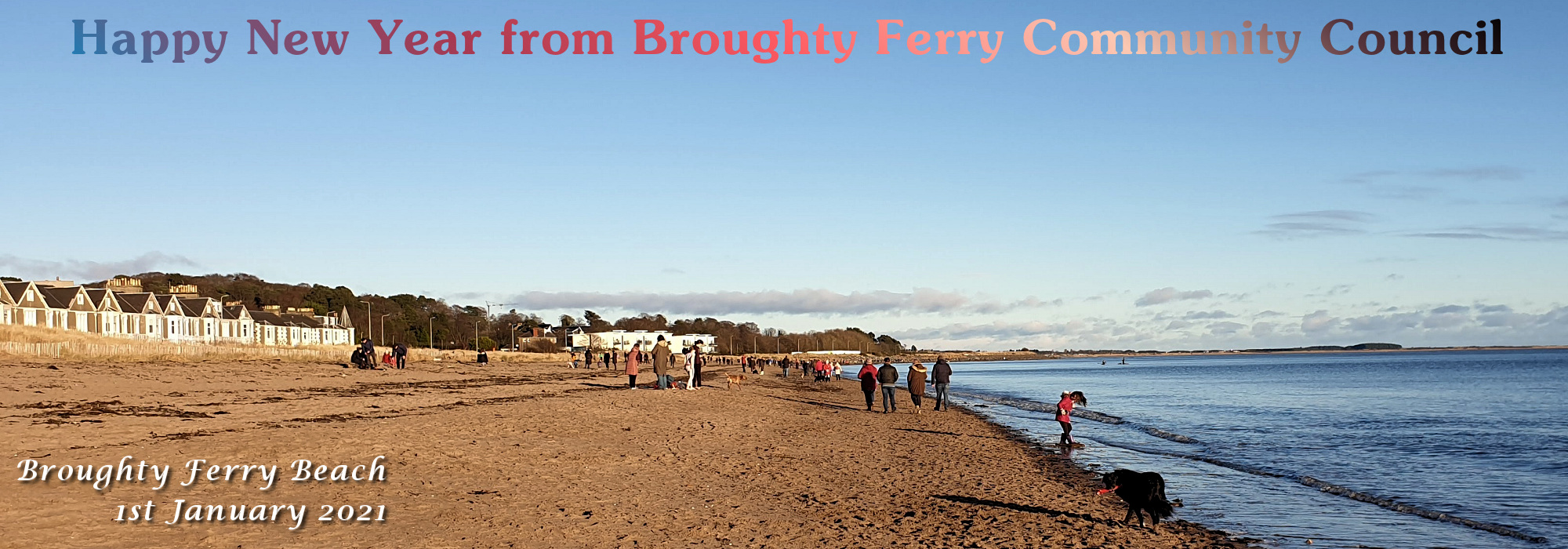 Broughty Beach New Year's Day 2021
